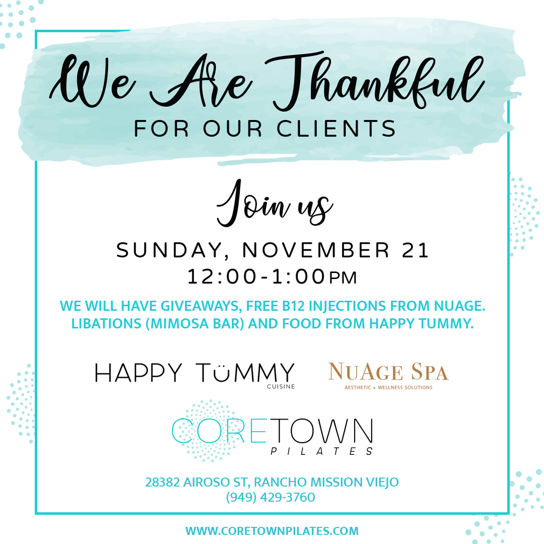We Are Thankful For Our Clients Event